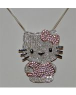 Hello Kitty Custom Charm 1.5ct Diamonds