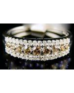 DIAMOND RING WEDDING ANNIVERSARY BAND 0.5CT WHITE GOLD RIGHT HAND RING