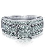 WEDDING RING WHITE GOLD 1CT DIAMOND 10K WHITE GOLD 3 IN 1 STYLE RING & BANDS