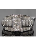 Diamond Wedding Ring Engagement Ring 3 in 1 style 1ct Diamonds Sterling Silver