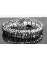 Tennis Bracelet 2ct Diamond St. Silver Baguette Diamonds White Gold Finish 12mm