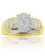 1.00ctw Diamond 3 in 1 Style Wedding Ring 10K Yellow gold (i2/i3, i/j)