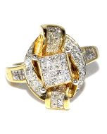 1.15CT DIAMOND PRINCESS CUT RING 14K GOLD WEDDING ENGAGEMENT LADIES WOMENS