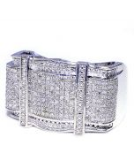 Real Diamond Mens ring 0.6ct Sterling Silver 16.5mm Wide Extra Large