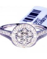 Halo Style diamond Ring 0.12ct Diamonds 10mm Wide Anniversary Fashion Ring