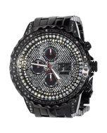 Black Diamond Watch Mens ACE II GX 2.9ct 48mm Black PVD Stainless