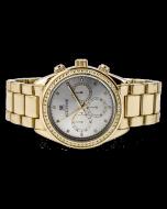 Mens Diamond Watch Ice Time California 42mm Dial 0.10ctw Diamond Champagne Dial