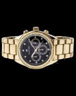 Mens Diamond Watch Ice Time California 42mm Dial 0.10ctw Diamond Black Dial