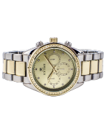 Mens or Womens Diamond Watch Two Tone California 42mm Dial 0.10ctw Diamond Gold Tone Dial