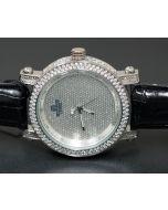 Mens Real Diamond Watch 0.12ct Diamond Max Full Case Bazel 50mm Xtra Bands