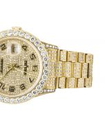 Rolex Watch Presidential Day-Date 18K Solid Gold 15ctw Custom Full Diamond Watch 15ctw