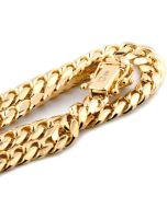 """10K SOLID YELLOW GOLD 6MM WIDTH MIAMI CUBAN LINK CHAIN 20- 30"""" Length REAL GOLD"""
