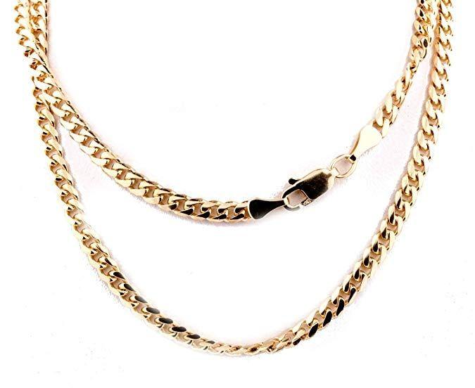 10k Gold Cuban Link Chain >> Midwest Jewellery 10k Gold Cuban Link Chain Miami Link Necklace 3 5