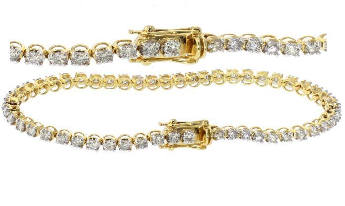 14k Gold Diamond Tennis Bracelet 3 00ctw Diamonds Womens