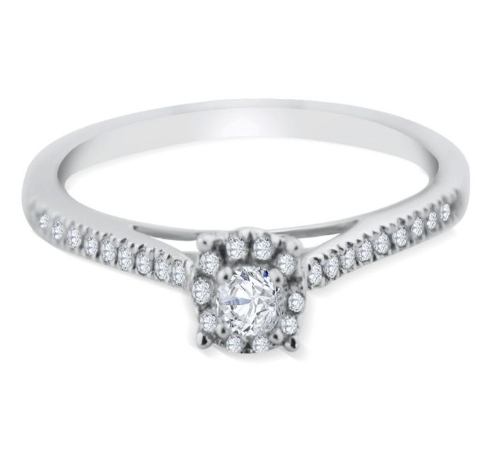 white gold promise rings for her