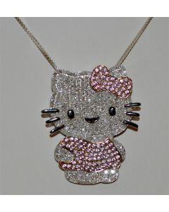 Hello Kitty Custom Charm 1.5ct Diamonds