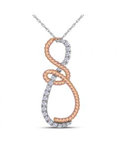 0.25CT Diamond Infinity Pendant in 10k Two Tone Gold