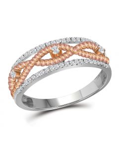 0.25CT Diamonds Infinity Ring in 10k Two Tone Gold