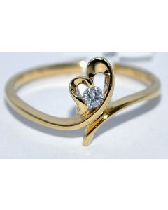 DIAMOND PROMISE RING ROUND CUT DIAMOND RING ENGAGEMENT WEDDING RING 10K GOLD