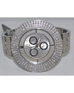 MENS JOE RODEO PLATINUM 17.68CT DIAMOND WATCH FULL DIAMOND BAZEL CASE & BRACELET