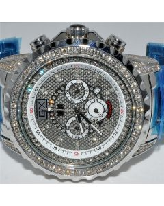 MENS DIAMOND WATCH ACE 6CT DIAMOND 52MM AVENGER FULL CASE XL