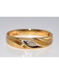 Mens Wedding Band Large Size 15 7mm wide 0.05ct Diamond