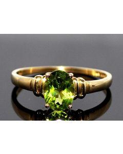 Ladies Peridot Birthstone Gemston Ring 10K Gold 1.5ct Peridot Green birth stone
