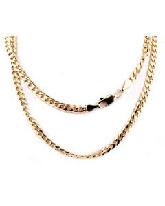 Midwest Jewellery 10K Gold Cuban Link Chain Miami Link Necklace 3.5mm Mens Necklace Solid Gold