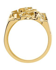 Gents Nugget Mounting 14K Yellow Gold 17.00X18.00 Mm