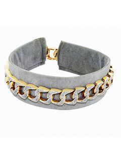 Mens Cuban Link Bracelet 1.75ct Diamond 10K Yellow Gold Curb Link
