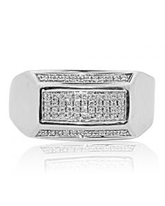 Real Diamond Mens Ring 0.15ctw Diamonds Pinky Ring