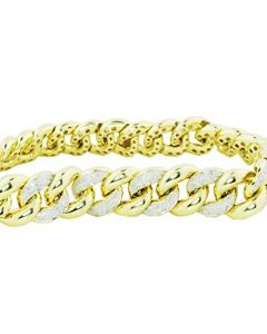 Diamond Bracelet Miami Link Cuban Link 1.25ctw 9mm Wide 8 Inch Long (i2/3, i/j)