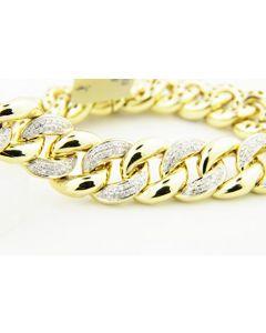 Diamond Bracelet Miami Link Cuban Link 2.30ctw 12mm Wide 8.5 Inch Long (i2/3, i/j)