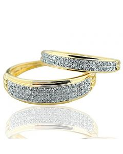 His and Her Ring Set Duo Set 10K Yellow Gold 0.50ctw Diamond Wedding Bands (i2/i3, I/j)