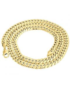 10k Yellow Gold Chain Mens Miami Link 6mm Wide Cuban Link Chain