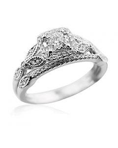 Vintage Style Weddig Ring Set 14K White Gold 1/3cttw Natural Diamonds (i2/i3, i/j) (7)