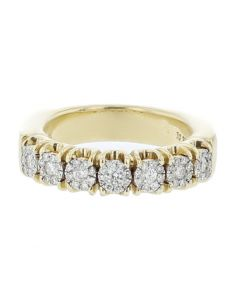 10K Gold Wedding Band Mens 0.73ctw Diamond 7mm Solid Gold Comfort Fit Mens Ring