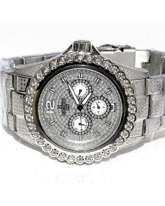 Diamond Watch for Men Ice Time 0.25ctw Diamonds 45mm Dial White