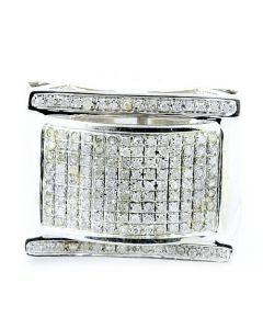 Mens Diamond Ring Large 0.55ct 10K White Gold Pinky Fashion Ring Be the first to review this item