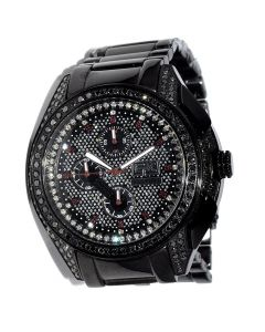 Black Diamond Watch Men 4.75ct Blackbird 50mm Black PVD St. Steel