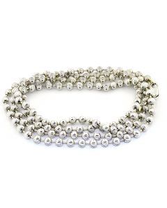 10K White Gold Solid Moon Cut Chain 23.7gms 4mm Wide 30inch Long
