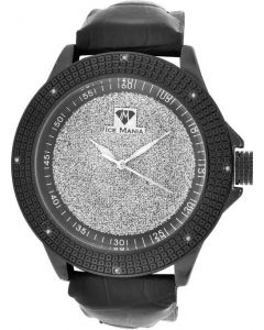 ICE MANIA DIAMOND WATCH 0.12CT WITH TWO EXTRA LEATHER BANDS J