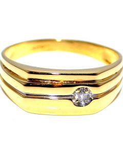Men's Wedding Ring Diamond's 0.05ct 10K Gold 8mm Wide