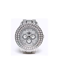 Mens Diamond Watch Bling II 50mm Dial 0.50ctw Diamond Stainless Steel Dial