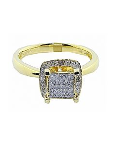 10K Yellow Gold Diamond Engagement Ring 0.28cttw 9.5mm Wide