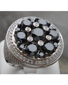 Black and White Diamond Men's Ring Custom Made 8ct