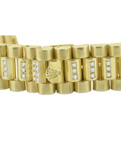 14K Gold Watch Band With Diamonds 2.5ctw Diamonds Fits Presidential Watch After Market Diamond Band