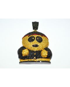 Eric Cartman Character South Park Black And Yellow Simulated Diamonds Charm