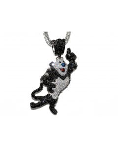 Tony The Tiger Charm Black And White Simulated Diamonds 100MM