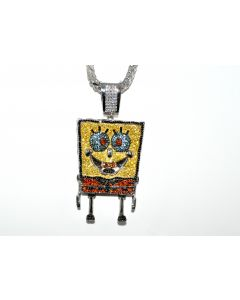 Sponge Bob Character Simulated Diamond Charm